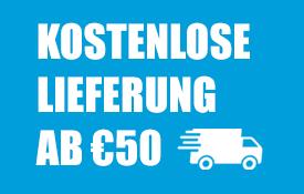 Kostenloser Versand ab 50 €